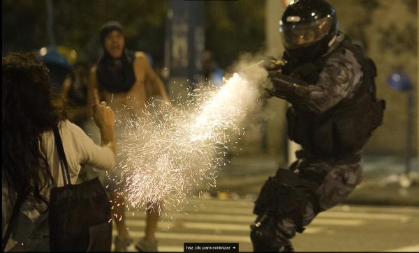 AFP Foto antidisturbios Brsil
